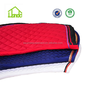 colorful horse racing english saddle pads
