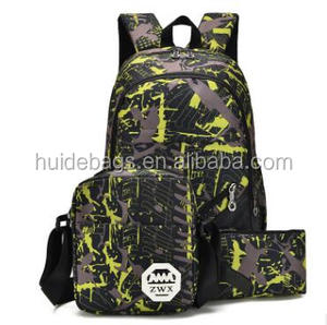 Sports Hiking Camping School Backpack 3 Pcs Set