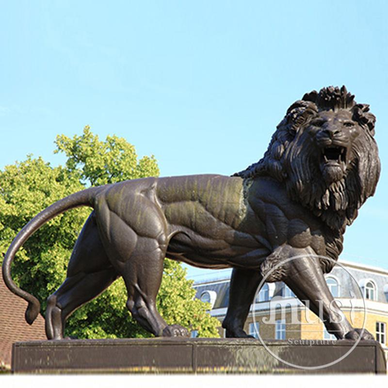 Decoraci n de jard n escultura de metal grandes leones de - Estatuas de jardin ...
