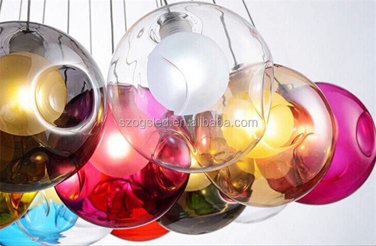 Kronleuchter Farbig ~ Bunte glas kronleuchter multi farbige glaskugel pendelleuchte buy