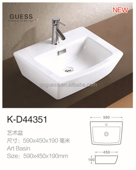 Bathroom Sink Counter Top Sanitary Wash Basin K D44351 View Larger Image