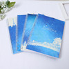 weekly planner agenda notebook Blue sky softcover note book