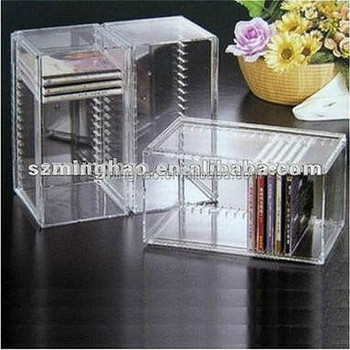 klarer acryl cd rack kunststoff cd aufbewahrungsbox buy cd regal kunststoff cd. Black Bedroom Furniture Sets. Home Design Ideas