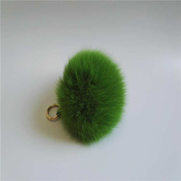 Factory Wholesale Colorful Real Fox Fluffy Fur Pom Poms / Balls /fox fur ball key chain