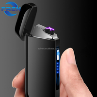 2018 New creative design double arc plasma lighter with battery indication , electric rechargeable usb lighter