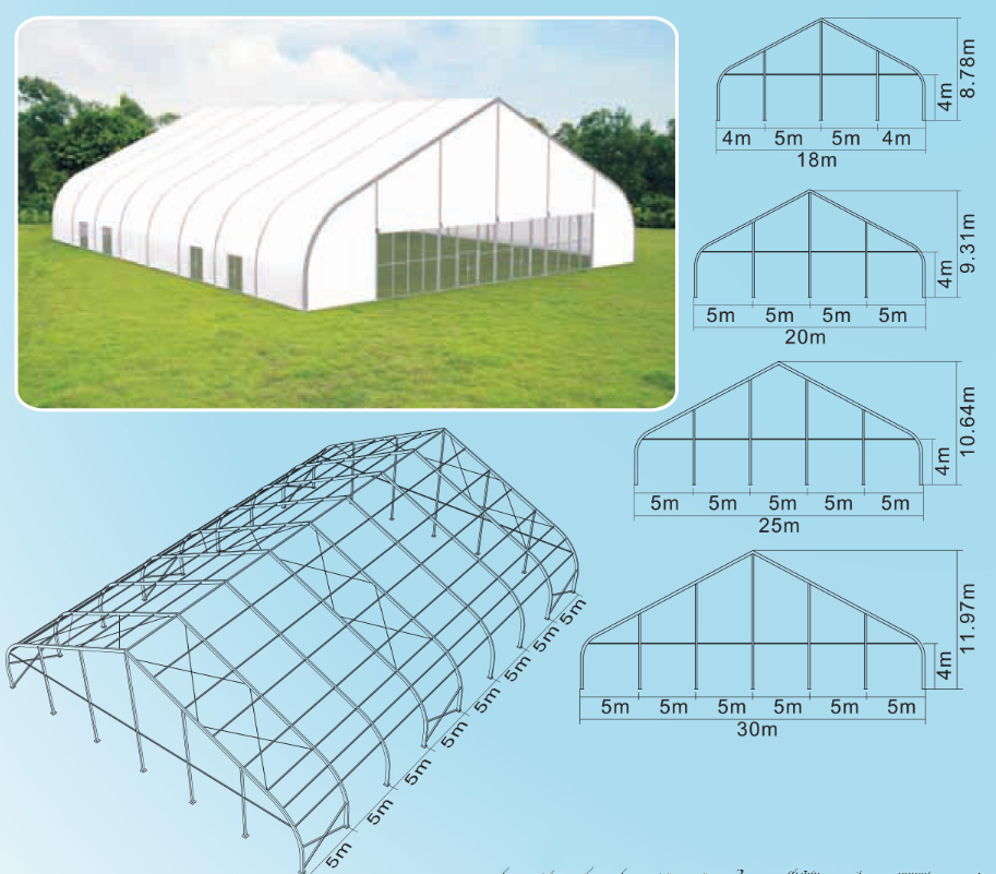 china factory price outdoor white portable waterproof fabric pvc party glamping stretch marquee tent - Kleine Fertigkabine