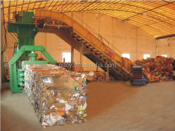 China manufacturer cardboard baling press machine, hydraulic automatic baler for recycle