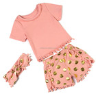 New arrival spanish baby clothing gold polka dot baby toddler clothing baby clothing thailand