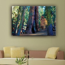 Cheap modern forest natural landscape chinese wall canvas art painting