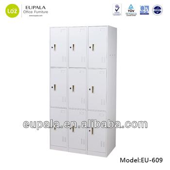 Steel Locker/changing Room Locker/9 Door Bedroom Metal Locker