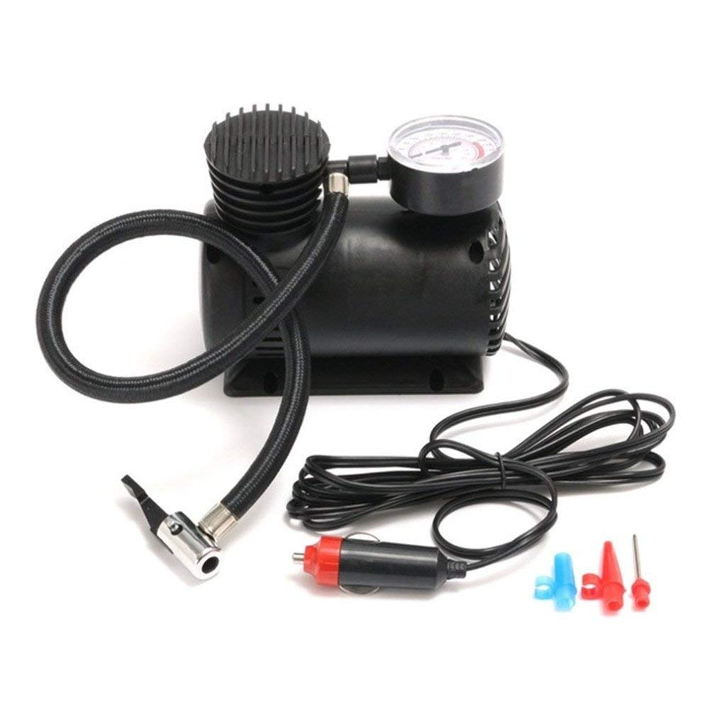 Tire Inflator, OWIKAR Electric Mini 12V Air Compressor Pump Car Tyre Tire Inflator 300PSI Car Air Compressor with Pressure Checking Gaug