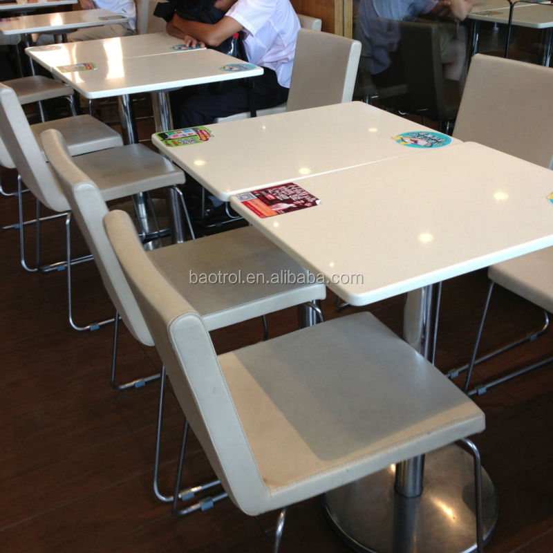 Easy Clean Marble Top Dining Table And Chair Fast Food