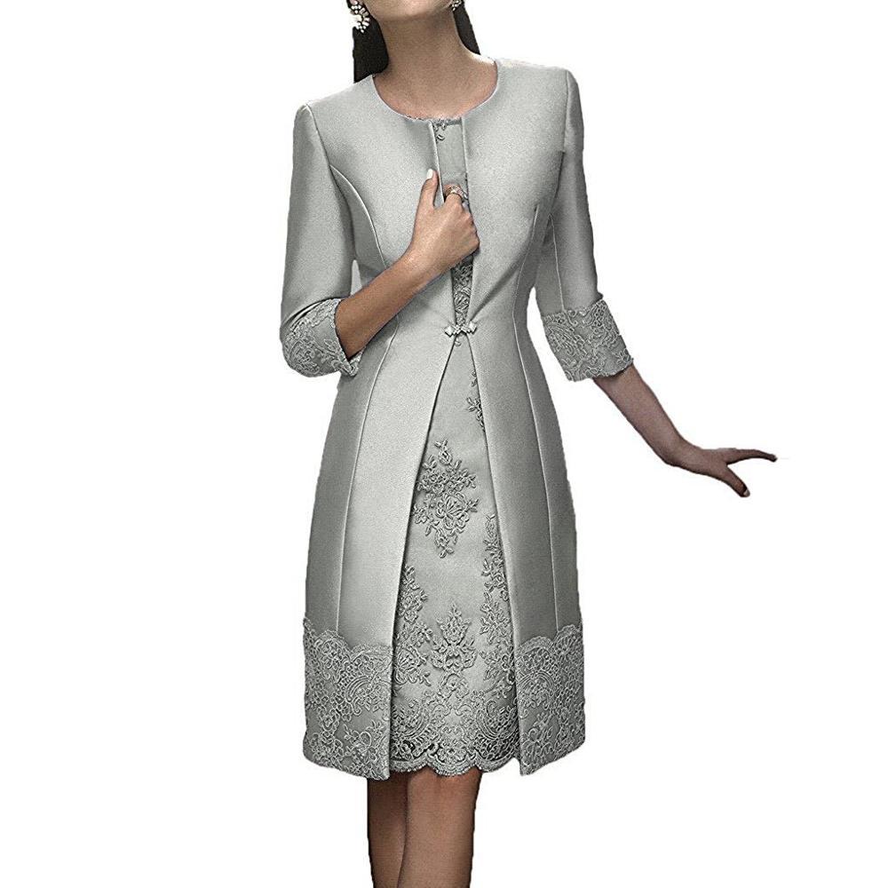 97b258e96 ثياب السهرة appliqued cr08 امرأة الوردي طول الركبة قصيرة زائد حجم الدعاوى  الدة العروس فساتين مع