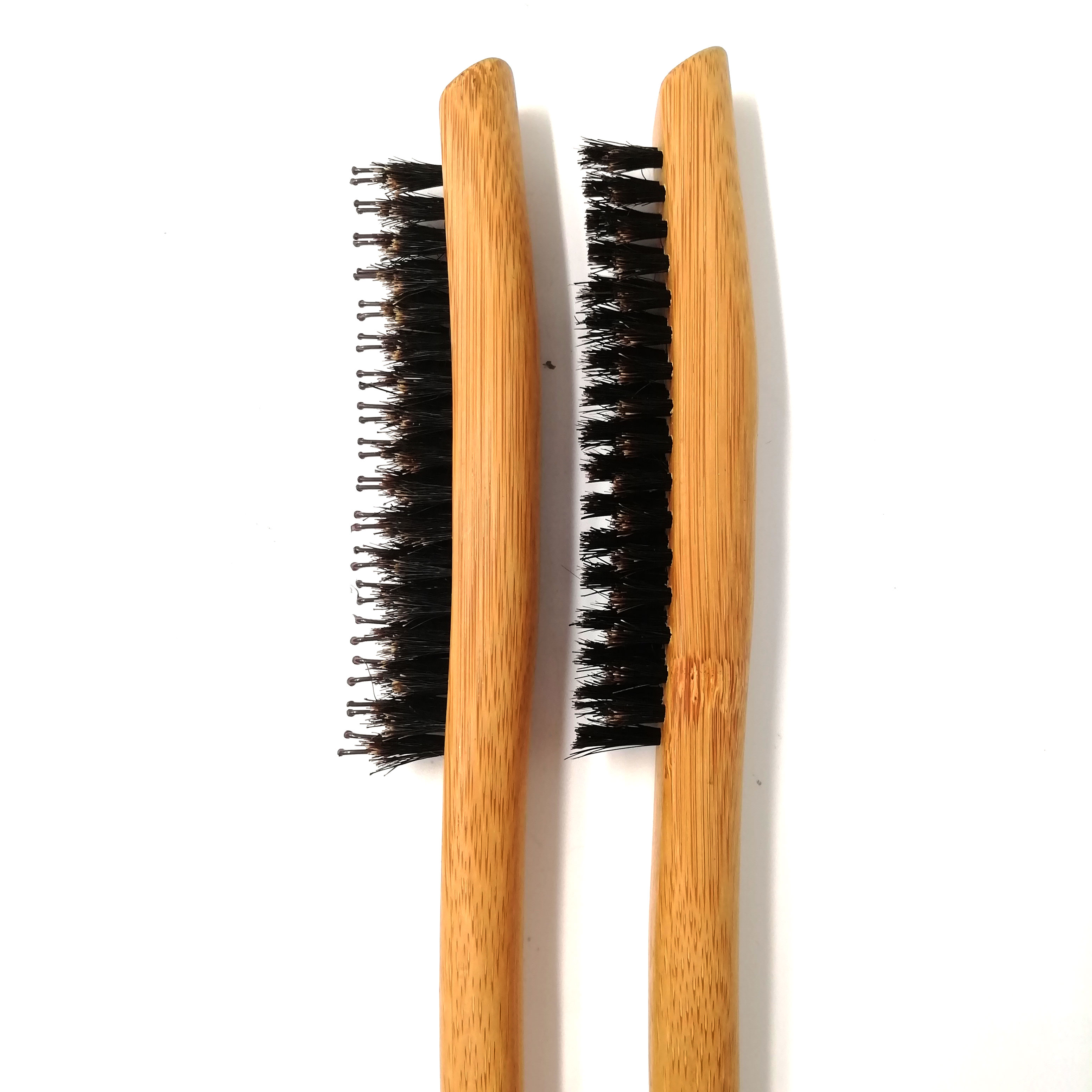 Manufacturers New Design  100% Natural Boar Bristles Wooden Hair teasing slim styling brush