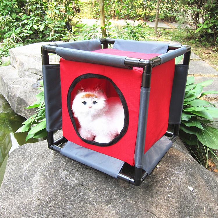 Huisdier Bed Kat Play Cube tent kat Tunnel kennels dutje bed