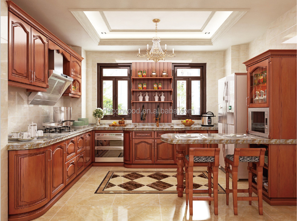 China supplier natural country style kitchen cabinet door for Country style kitchen doors