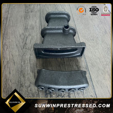 Grey cast iron anchorage /anclaje for material prestressed cable