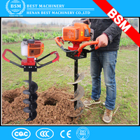 Zambia Hand-Held Soil Hole Drilling Machine/ Portable Manual Earth Auger