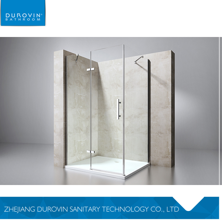 Best selling excellent quality free standing pattern glass shower enclosure