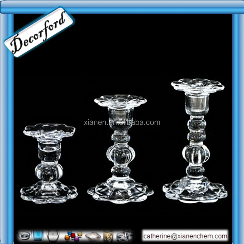 Wholesale Tall glass crystal candlestick