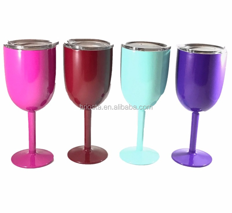 insulated double stainless steel wine glass with stem buy wine glass stainless steel wine