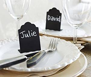 Mud Pie Chalkboard Buffet/Tin Placecard Holders SET of 4
