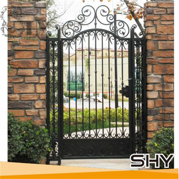 Home Design Gate Ideas: Iron Steel House Main Gate Designs Wrought Iron Front Door