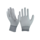White high quality pu coated working gloves for big hands