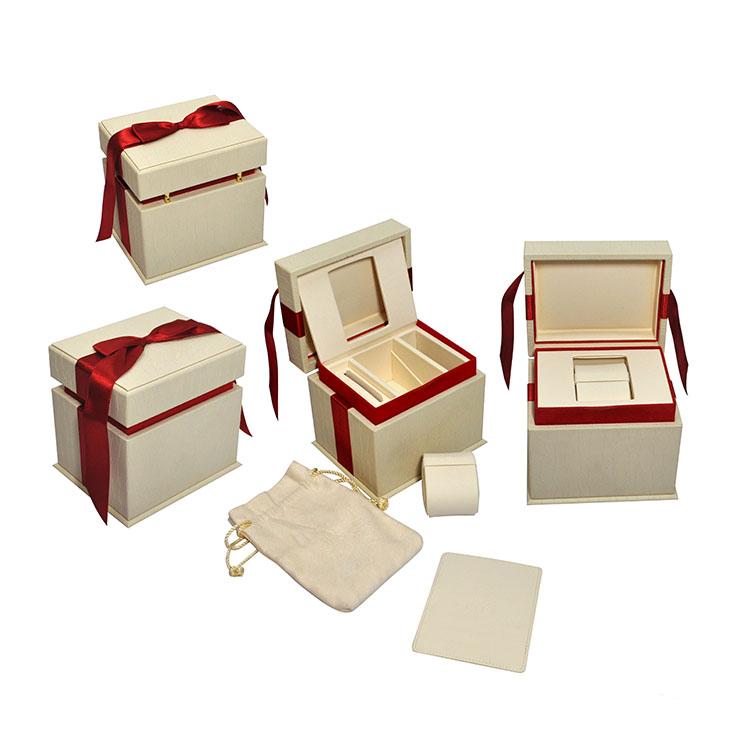 SWB0011 Custom Luxe Lederen Horloge Verpakking Goedkope Enkele Horloge Gif Box China Groothandel