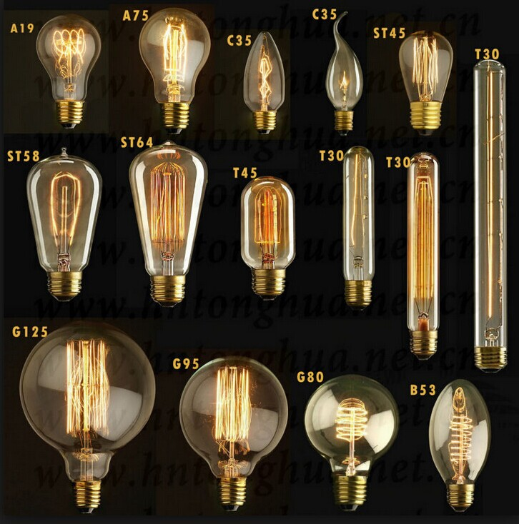 e14 c35 4pcs filament vintage led edsion chandelier bulb