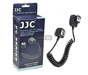 JJC FC-E3 Off Camera Shoe Cord 7m 22.9ft E-TTL Flash Sync for Canon EOS SL1 60Da 60D 7D 6D 5D T4i 650D T5i T3i T3 M EF-M 1D X
