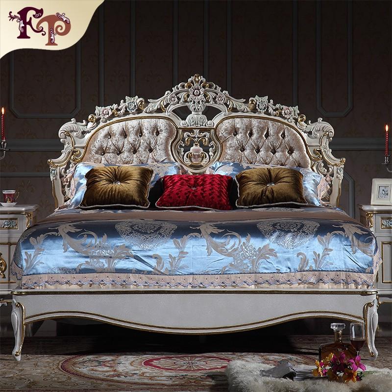 De lujo muebles de dormitorio de madera madera barroco de - Dormitorio barroco ...