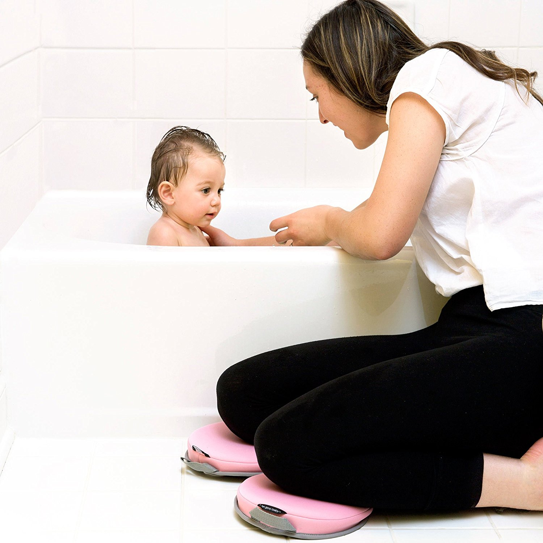 二つの独立した膝パッド浴kneelers用ベビーバスタブ