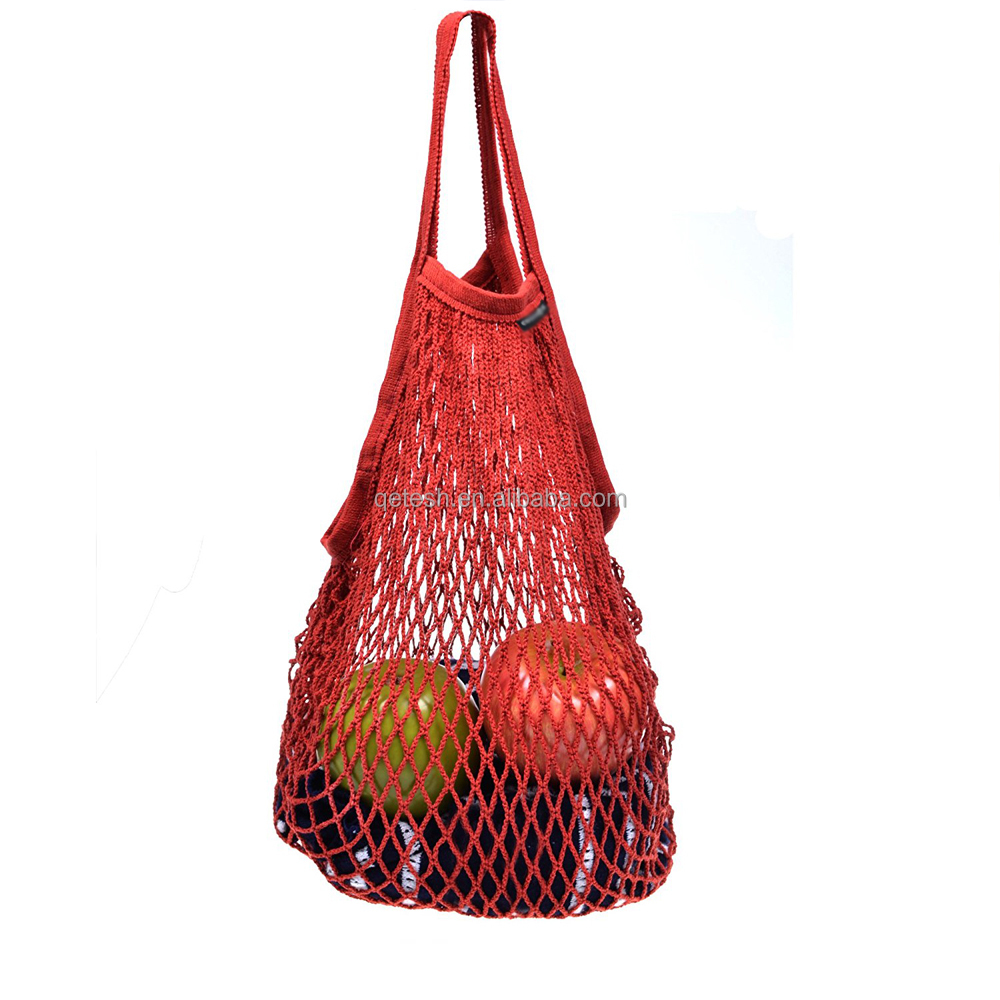 Qetesh Wholesale Net Cotton String Shopping Mesh Bag