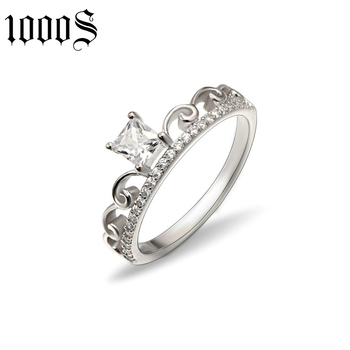 fashion 925 sterling silver lace shape ring for girlfriend gift