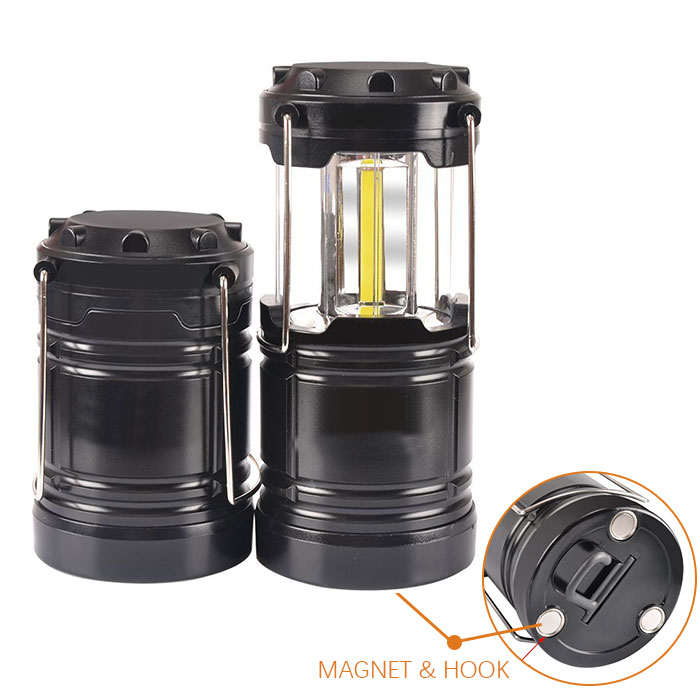 Battery Operated Led Head Portable Small Tactical Whole Collapsible Cob Emergency Mini Camping Lamp Light Lantern
