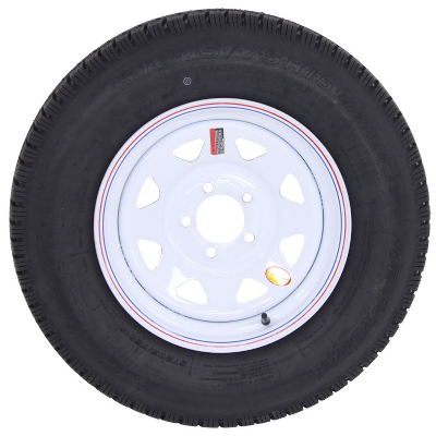 Boat Trailer Tire st205/75r15 with white spoke wheel