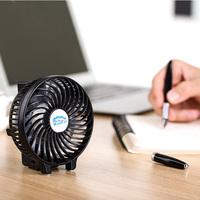Battery power portable plastic mini usb fan with light