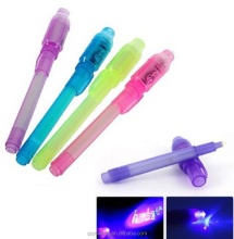 Promotional Invisible Ink Pen with UV Light Invisible Pen Light up Ink Pens for 2016 new products
