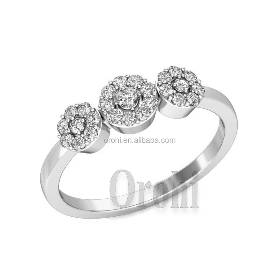 Orohi Costume 925 Sterling Silver Jewelry Manufacturer Three Round ...