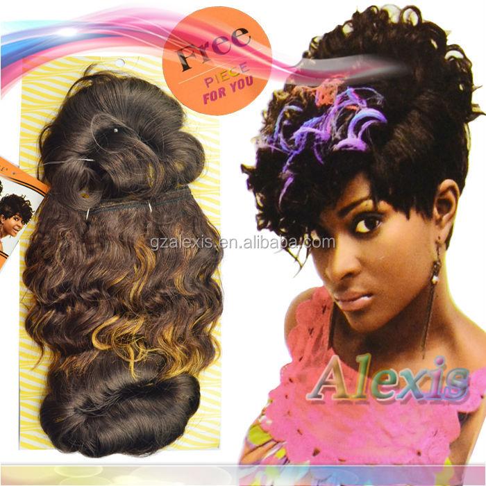 Extrêmement Noble Or Tissage De Cheveux Bobby Cut Noble Syntetic Cheveux  KA85