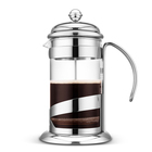 LFGB FDA Heat Resisting Stainless Steel Borosilicate Glass French Coffee Press Maker Plunger