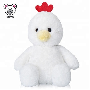 En71 Approved Custom Cute Soft Baby Toy Plush White Chicken Fashion