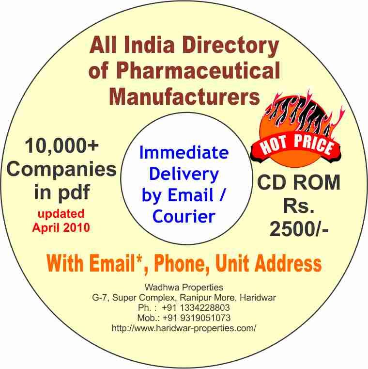 All India Database Directory Of Pharmaceutical Manufacturing Companies -  Buy Database Directory List Product on Alibaba com