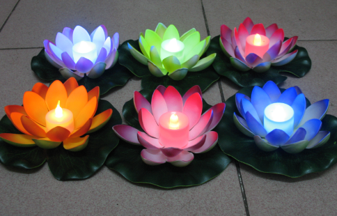 LED Candle lily lantern wishing light