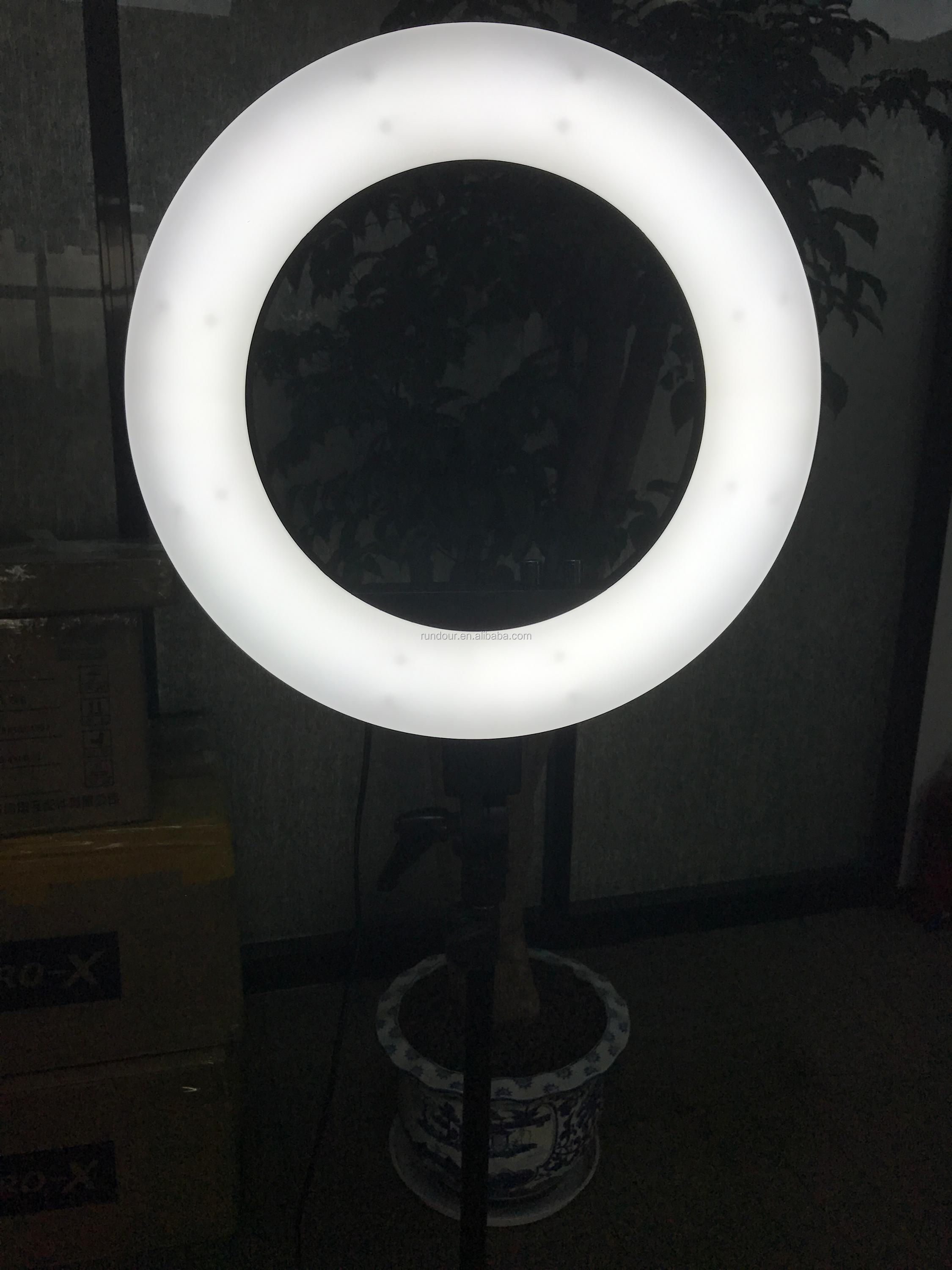 Rundour CY-R50L 18inch Photography ring light led lamp 3200-5600k 50w photo studio flourascent light