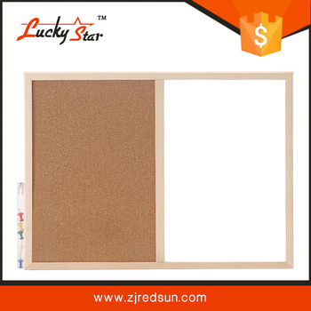 Double Sides Wooden Frame Cork White Board,Bulletin Board,Magnetic ...