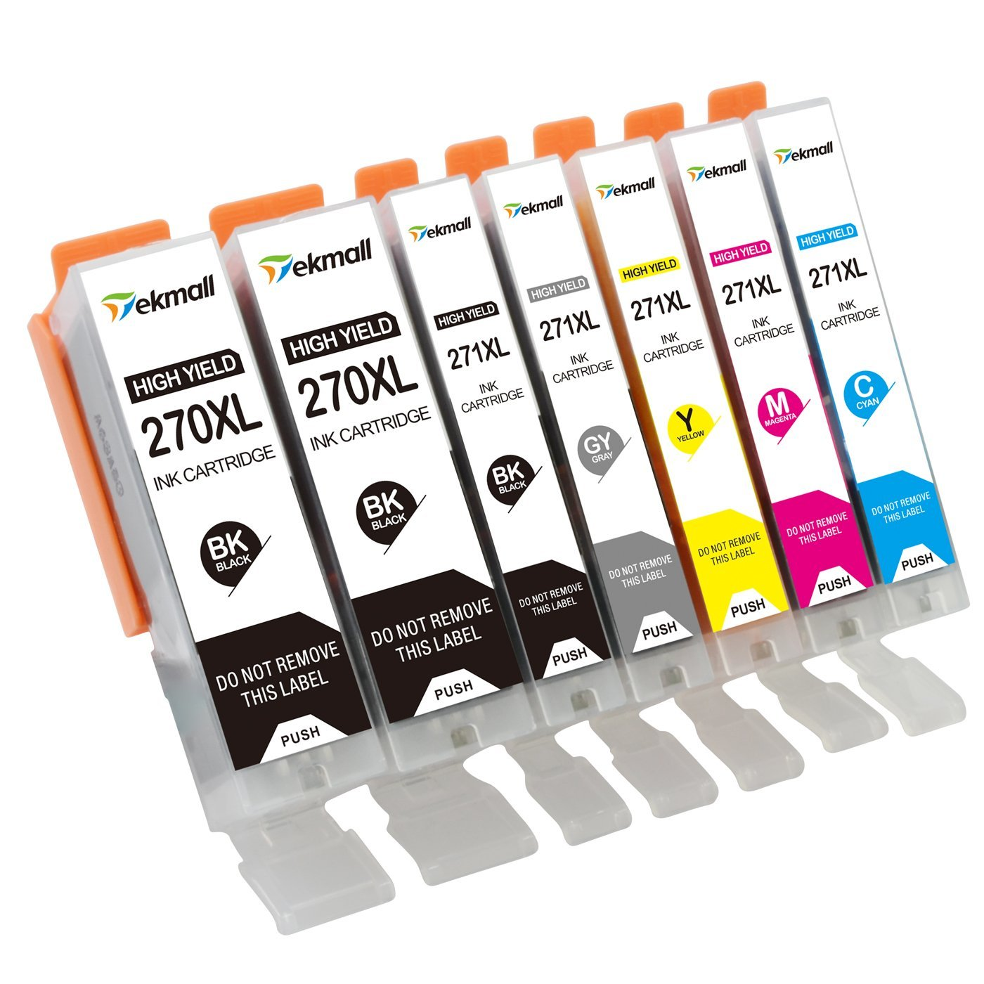 TekMall PGI-270XL CLI-271XL High Yield Ink Cartridges Replacement (2PGBK, BK, C, M, Y, GY), Compatible with PIXMA MG7720 Printer