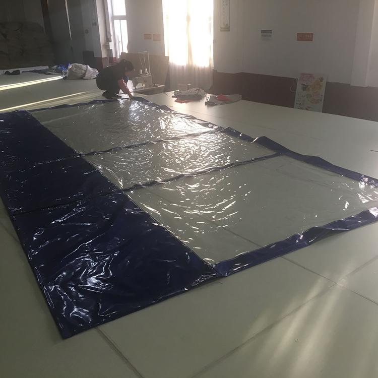 Custom Waterproof Sun Shade Fabric 0.5mm Vinyl Clear ...