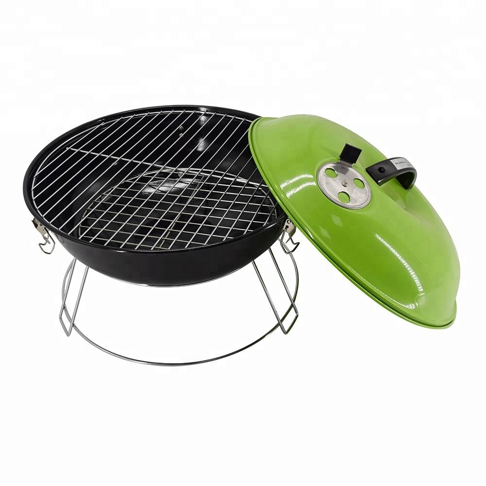 14inch apple shaped mini kettle bbq grill charcoal barbeque griller